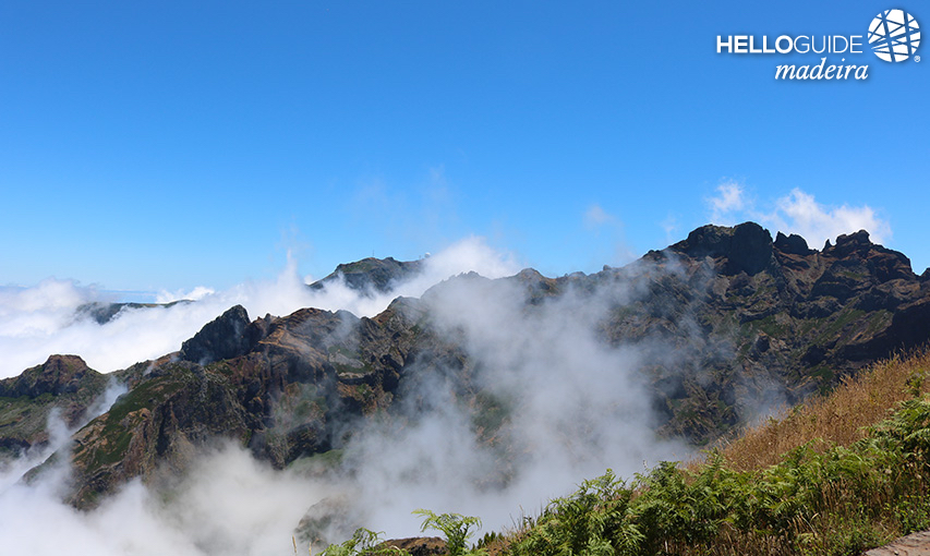 The clouds in the mountains of Madeira