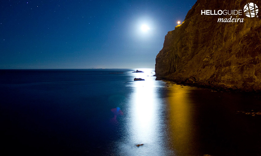 The beauty of the night on the slopes of Madeira Island.