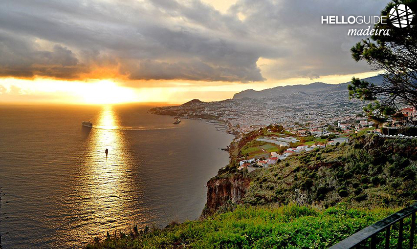 Sunset in Funchal city