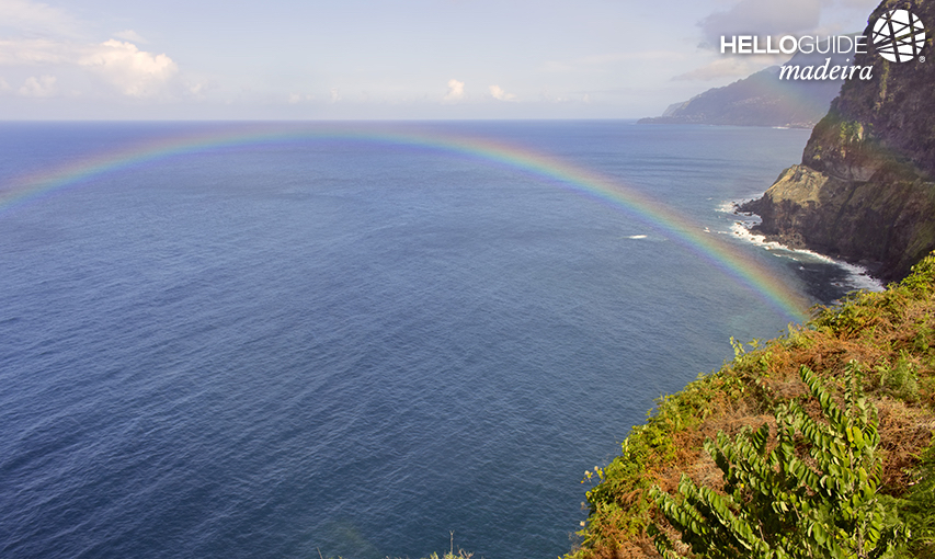 Rainbow on the slopes of Madeira